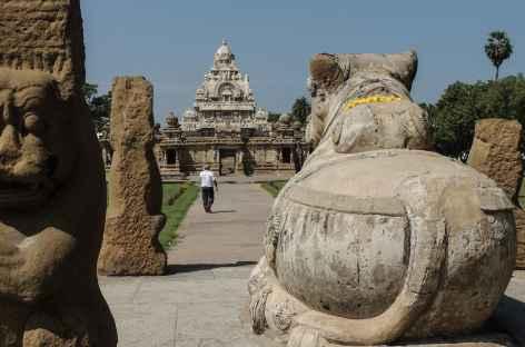 Temple à Kanchipuram, Inde du Sud -
