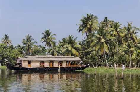 House boat sur les backwaters du Kerala, Inde du Sud -