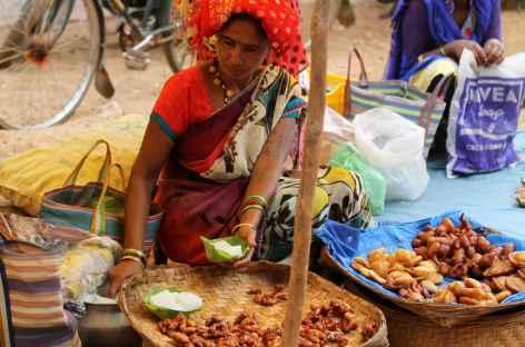 Marché - Orissa, Inde -