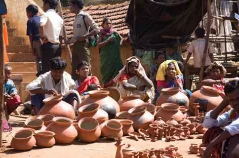 Marché de village  - Orissa, Inde -