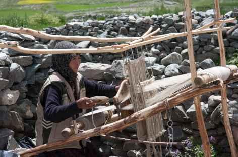 Tissage local,  Ladakh - Inde -