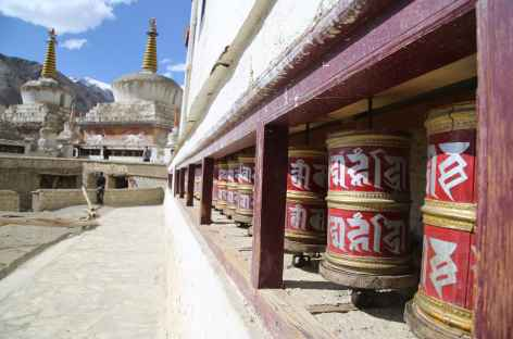Moulins à prières à Lamayuru - Ladakh, Inde -