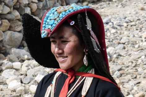 Coiffe locale (perak) - Ladakh, Inde -