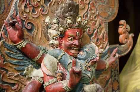 Statue terrifiante - Ladakh, Inde -