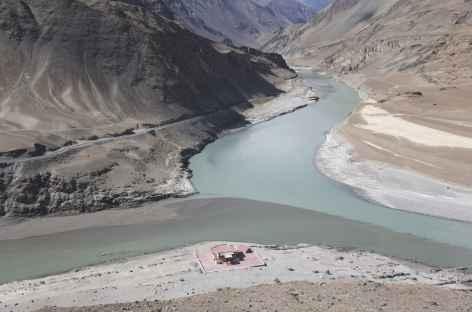 Jonction entre l'Indus et la Zanskar - Ladakh - Inde -