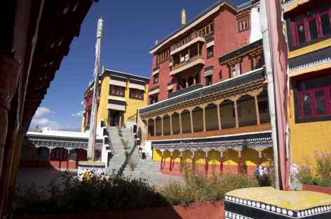 Dans les coursives du monastère de Tiksé - Ladakh - Inde -