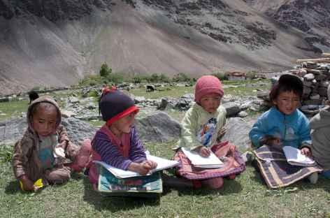 Ecoliers du village - Ladakh - Inde -