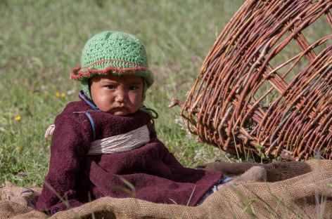 Bébé aux champs - Ladakh - Inde -