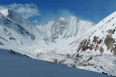 La vallée cachée au pied de la face nord du Kang Yatse, Ladakh - Inde -