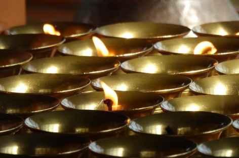 Lampes à huiles, Spiti - Inde -