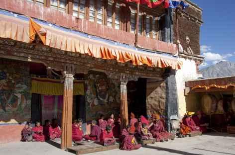 Pause sur les terrasses de Karsha, Ladakh, Zanskar- Inde -
