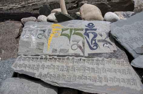 Mur à prière sur le sentier, Ladakh, Zanskar- Inde -