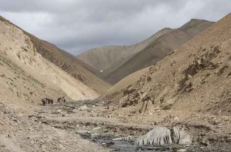 Départ de Snertze, Ladakh, Zanskar- Inde -