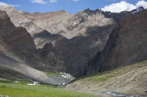 Les champs de Photoksar, Ladakh, Zanskar- Inde -