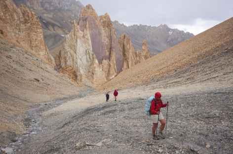 Les derniers mètres sous le Sniougoutse La, Ladakh, Zanskar- Inde -