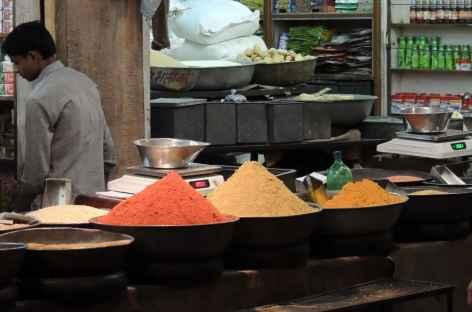 Riz, lentilles, épices, Delhi - Inde -