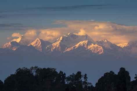 Darjeeling, vue panoramique sur l'Himalaya -