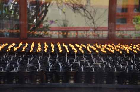 Lampes à huile, Gangtok -