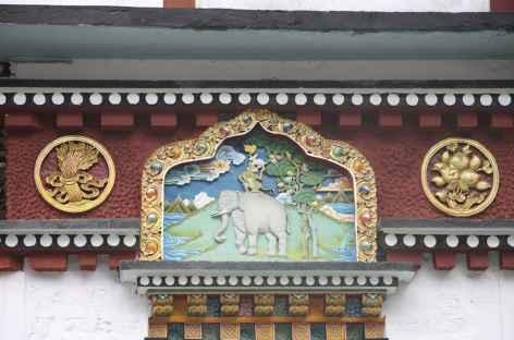 Détail d'un porche, Sikkim -