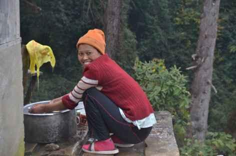 Femme souriante, Sikkim -