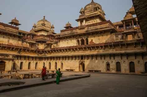La cour intérieure du Jehangir Mahal - Orchha -