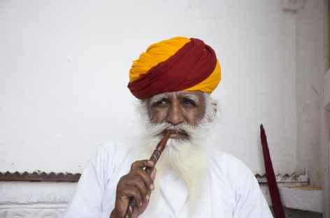 Jodhpur : portrait d'un gardien -