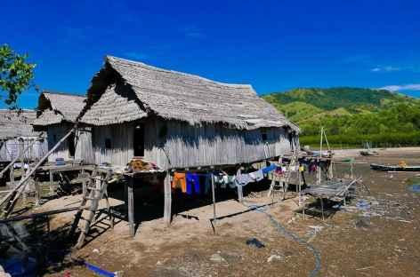 Maisons traditionnelles sur pilotis à Riung, Flores - Indonésie -
