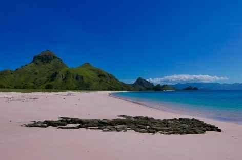 Plage rose de Pantai Merah, Komodo - Indonésie -