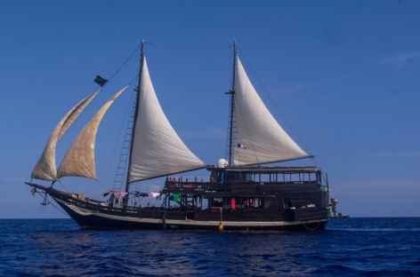 Notre bateau, île de Misool, Raja Ampat - Indonésie -