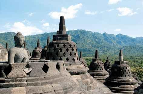 Temple bouddhiste de Borobudur, Java - Indonésie -