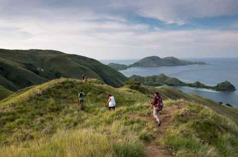 Sur les crêtes de l'île de Lawa Darat, archipel de Komodo - Indonésie -