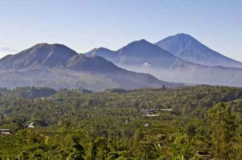 Volcans Batur, Abang, Agung, Bali - Indonésie -