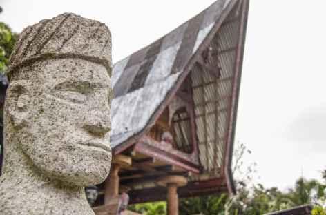Village batak toba sur l'île de Samosir, Sumatra - Indonésie -