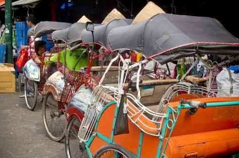 Pousse-pousse à Jogja, Java - Indonésie -
