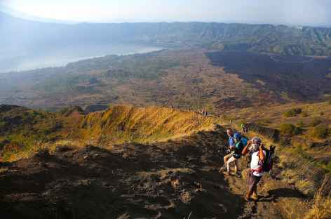 Descente du volcan Batur, Bali - Indonésie -