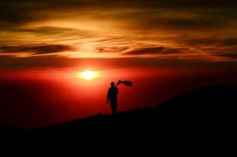 Depuis le sommet du volcan Semeru, Java - Indonésie -