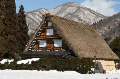 Maisons aux toits de chaume de Shirakawago, Alpes Japonaises - Japon -