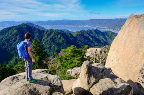 Au sommet du Mt Misen (535 m), île de Miyajima - Japon -