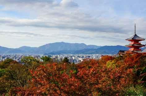 Temple de Kiyomizudera, sur les hauteurs de Kyoto - Japon -