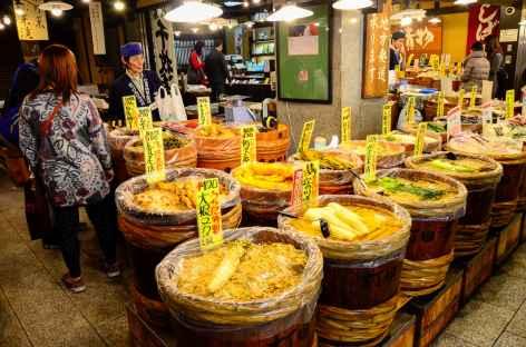 Marché alimentaire de Nishiki, Kyoto - Japon -