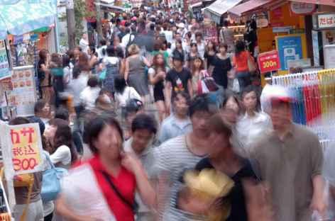 La rue animée de Takeshita Dori, Tokyo - Japon -