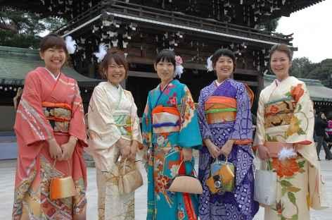 Rencontre au sanctuaire shintoïste de Meiji Jingu, Tokyo - Japon -