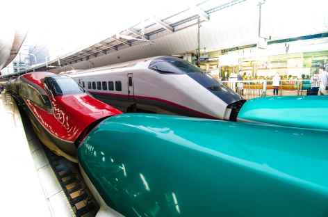 Le fameux train rapide Shinkansen - Japon -