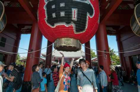 Lanterne géante à l'entrée du temple Sensi-ji – Tokyo, Japon -