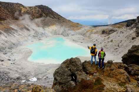 Lac de cratère du volcan Akita-Yakeyama (1366 m) - Japon -