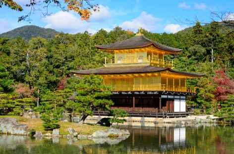 Temple de Kinkaku-ji (ou Pavillon d'Or), Kyoto - Japon -