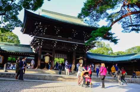 Au sanctuaire shintoïste de Meiji Jingu, Tokyo - Japon -