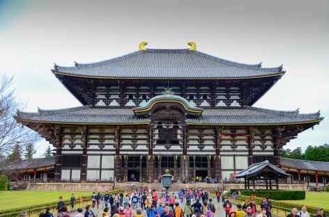 Temple Todai-ji, plus grand bâtiment en bois du monde à Nara - Japon -