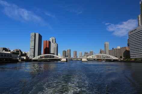 Descente de la rivière Sumida en bateau, Tokyo - Japon -
