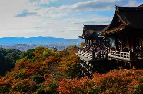 Temple Kiyomizudera sur les hauteurs de Kyoto - Japon -